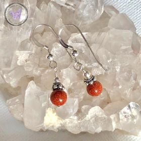 Gold Goldstone Earrings
